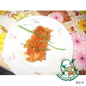 Рецепт Рыбка под овощным маринадом