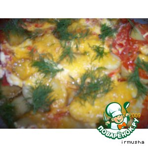 Рецепт Скумбрия с овощами