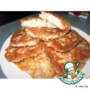 Рецепт Хлебные оладушки с сыром