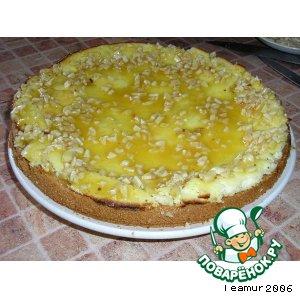 Рецепт Пирожок с творожной пышкой и миндально медовой глазурью