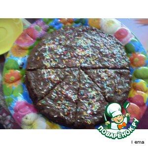 Рецепт Тортик из вишнeвого варенья  с шоколадным кремом