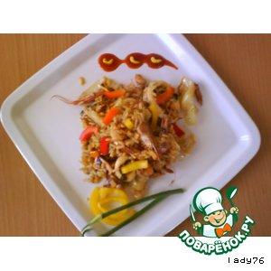 Готовим Рис с морепродуктами домашний рецепт приготовления с фото