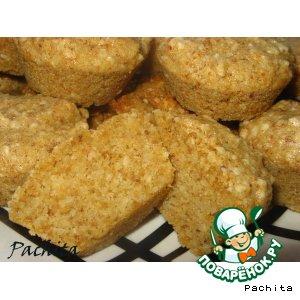 Рецепт Закусочные сухарные маффины с чесноком и орехами