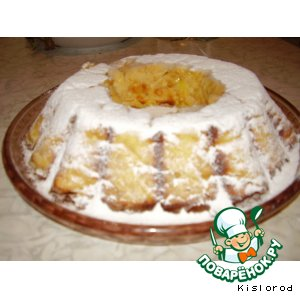 Рецепт Творожный кекс с курагой и лимоном