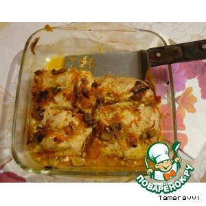 Рецепт Куриные рулеты с грибами