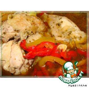 Рецепт Курица с разноцветной паприкой