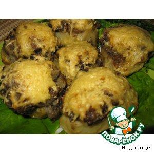 Рецепт Картошка, фаршированная грибами