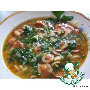 Рецепт Суп с сосисками