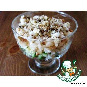 Салат-коктейль с грушей домашний пошаговый рецепт с фото