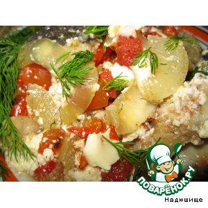 Рецепт Нежная рыбка с овощами