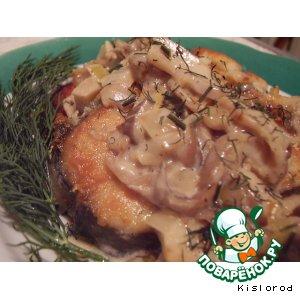 Рецепт Рыба в сливочном соусе