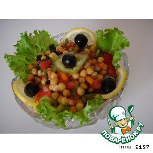 Рецепт Салат из нута с помидорами