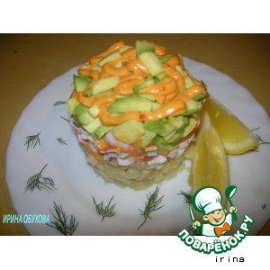 Рецепт Террин с авокадо и креветками