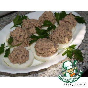 """Рецепт Яйца фаршированные """"Рыбка"""""""