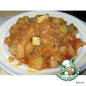 Рецепт Картофельное рагу с кабачками