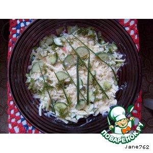 Рецепт Летний салатик с копченой курочкой
