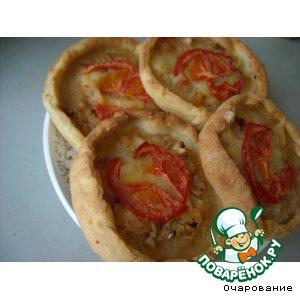 Как готовить Пицца маленькая домашний пошаговый рецепт приготовления с фотографиями