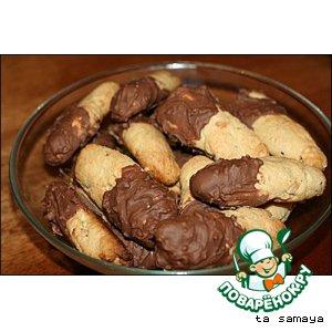Рецепт Ореховые палочки с шоколадом