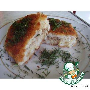 Рецепт Рисовые котлетки с рыбной начинкой