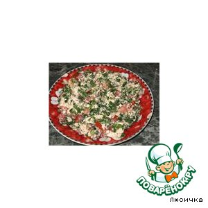 Рецепт Салат с творогом и помидорами