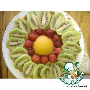 Рецепт Песочный торт с фруктами в желе