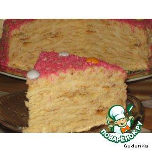 Торт слоеный миндально-кокосовый