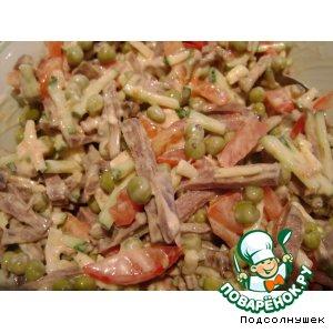Салат с языком домашний рецепт с фотографиями пошагово как готовить