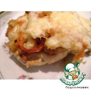 Рецепт Куриные рулетики с грибами и овощами