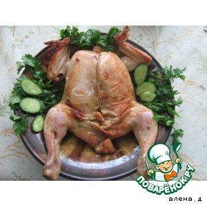 Рецепт Фаршированая курица грибами и сыром