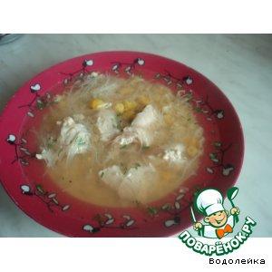 Рецепт Куриный суп с рисовой вермишелью