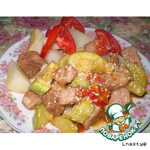 Рецепт Рагу из свинины в маринаде