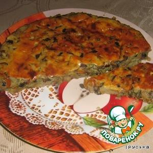 Рецепт Пирог картофельный с грибами