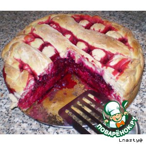 Рецепт Пирог со свеклой и клюквой
