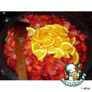 Рецепт Варенье из клубники  с апельсинами