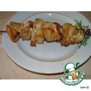 Простой рецепт приготовления с фото Шашлык из курицы