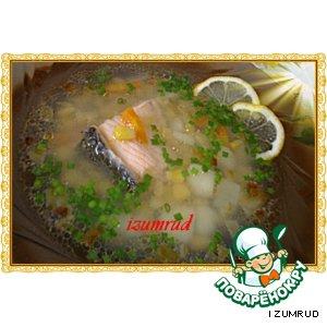 Рецепт Рыбный супчик с кукурузой