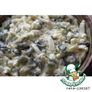 Салаты с кальмаром рецепты с вкусные
