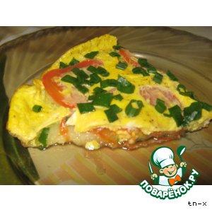 Рецепт Яично-кабачковая пицца