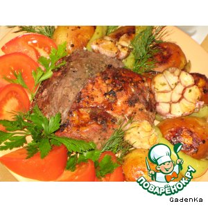 Рецепт Мясо «Дуэт» в темном пиве с вишнями