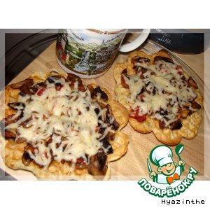 Рецепт Вафли - пицца