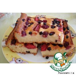 Рецепт Ягодно-творожный пирог