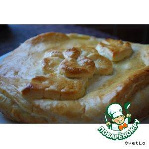 Рецепт Пирог из слоеного теста с курицей