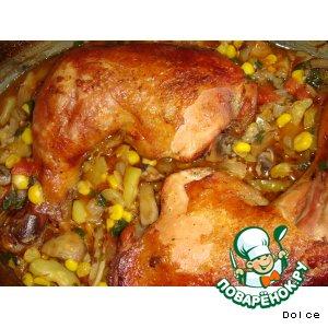 Рецепт Ароматная курочка с овощами