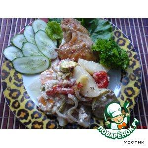 Рецепт Овощное ассорти с курицей
