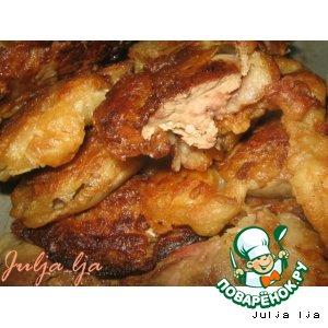 Рецепт Нежнейшая куриная печень с майораном, в хрустящем пивном кляре