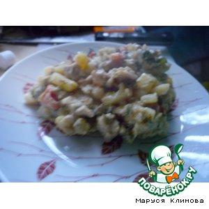 Рецепт Курочка с овощами и прованскими травами