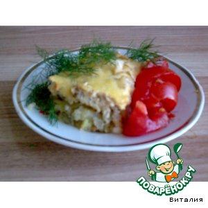 """Рецепт Запеканка   """"Филе рыбы на картофеле"""""""