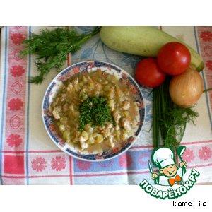 Рецепт Рагу овощное со свининой