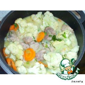 Рецепт Мясная подлива с цветной капустой