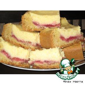 Рецепт Творожный пирог с клубникой